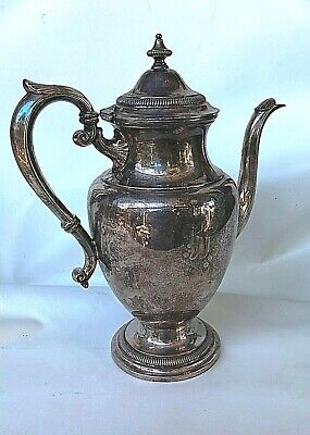 Vintage Gorham + Chantilly + Silver Plate E.p.n.s. Tea & Coffee Pot + Numbered