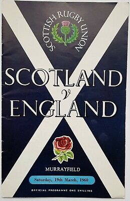 Scottish Rugby Union: Scotland V England 1960 Murrayfield Official Programme