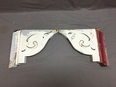 Pair Antique Roof Corbels Halves Shelf Brackets 13x14 Shabby Vtg Chic 282-19J