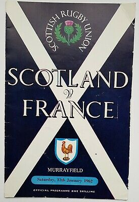Scottish Rugby Union: Scotland V France Murrayfield 1962 Official Programme