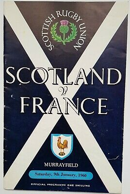 Scottish Rugby Union: Scotland V France Murrayfield 1960 Official Programme