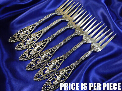 Dominick & Haff Labors Of Cupid Sterling Silver Pastry Fork - Excellent