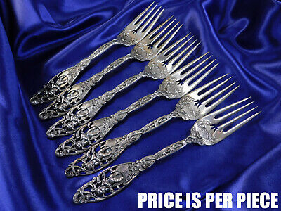 Dominick & Haff Labors Of Cupid Sterling Silver Fish Fork - Excellent Condition