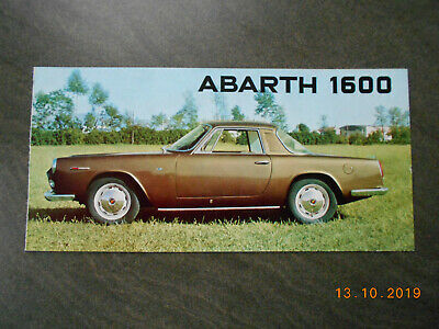 ABARTH: 1600 Coupe+ Cabriolet , englisch, ca.1962