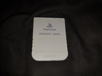 Official Sony Playstation 1 Memory Card PS1 Light Grey 1mb