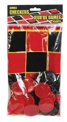 """25 Piece Plastic Foldable Board Jumbo Checkers Chips Game Set 20""""x20"""""""