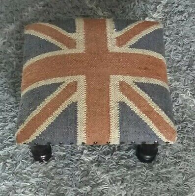 Union Jack ( Tapestry Style) Square Shaped Foot Stool