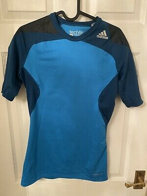 Mens Adidas Techfit Top Compression Shirt UK M Climacool New Without Tags