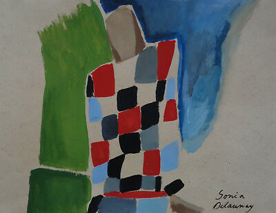 Fine art - Russian French Abstract & Cubism original composition painting Signed