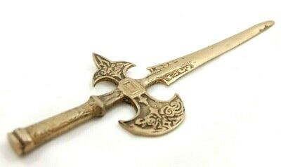 Battle Axe Letter Opener, Miniature Decorated Sword