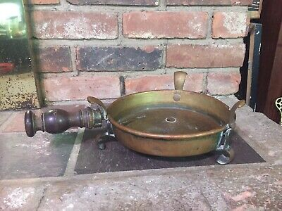 Rare Antique 18th Century Bass Or Copper Table Top Brazier Heating Pan
