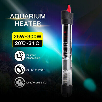 Aquarium Auto Water Thermostat Submersible Heater Fish Tank 25/50/100/200/300W