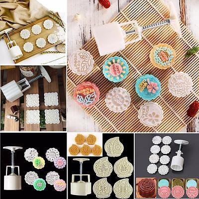6 Pattern Mooncake Flower Stamps Moon Cake Mould Pastry Decoration Baking