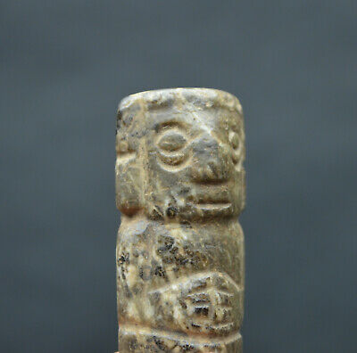 Authentic Green Stone Figure Mixtec Pre Columbian Artifact Mexico