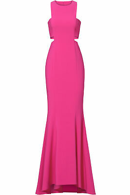 LIKELY Women's Dress Pink US 6 Gown Side-Cutout Crewneck Back-Zip $378- #554