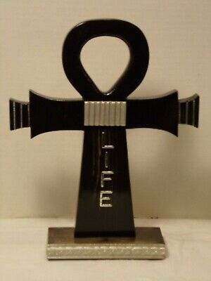 Decorative Standing Wooden Life Ankh Ebony Gloss Finish