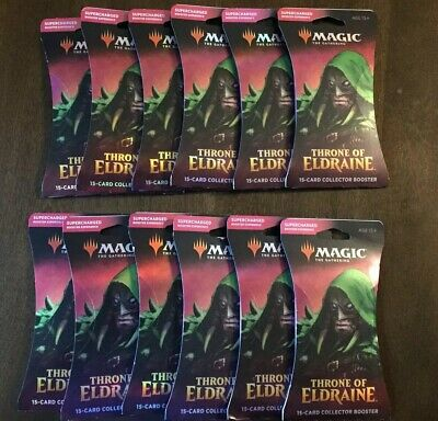 12x Mtg Throne of Eldraine Collector's Booster Packs Booster Box Worth New Seal