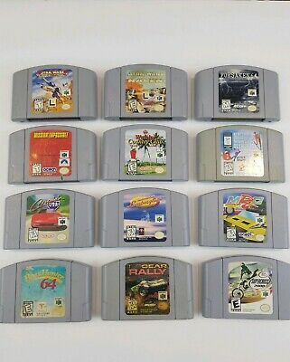 Nintendo 64 N64 12 Game Lot Bundle Authentic Cleaned & Tested! Classic Games!