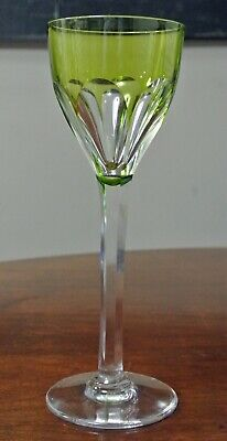 "Baccarat Harcourt Green Wine Glass 8 ½"" Tall"
