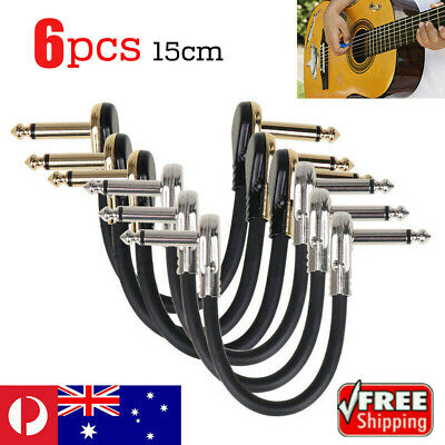 Low Noise Guitar Effect Pedal Board Patch Cable Leads Cord Right Angle Plug 15cm