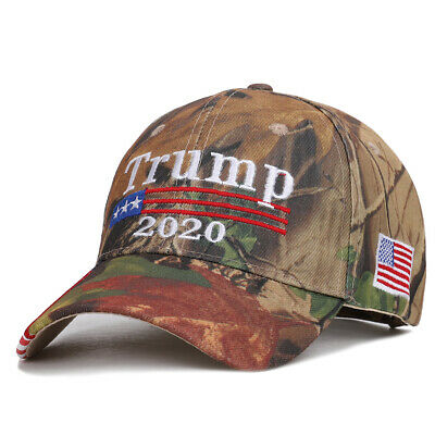 Trump 2020 Hat Camouflage Embroidered Keep America Great Cap USA Flag MAGA A6+