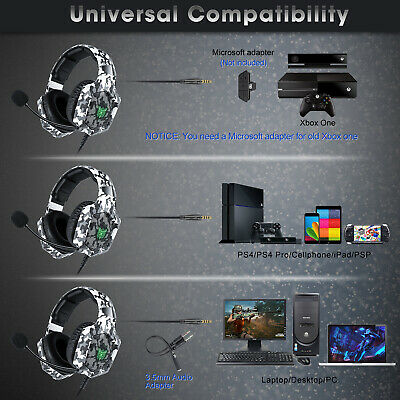 ONIKUMA Gaming Headphone Mic for PS4 Xbox One PC Laptop Mobile Tablet Headset S1