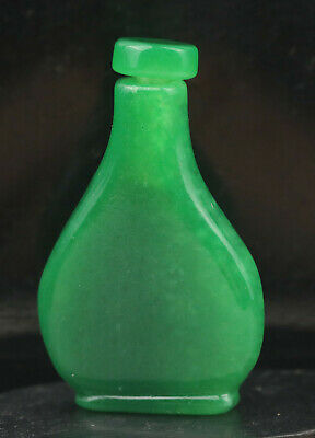 Old Chinese natural jade hand-carved snuff bottle