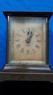 antique brass cased carriage clock not running