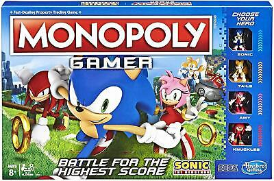 Monopoly Gamer Sonic The Hedgehog Edition Board Game for Kids Ages 8