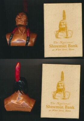 USA: Indian Brave Ornament (H: 9.5cm), Issued by Shawmut Bank, in Orginal Box
