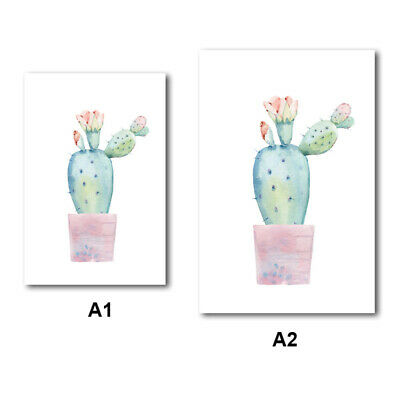 Nordic Watercolor Plant Cactus Art Wall Painting Canvas Print Picture Home Decor