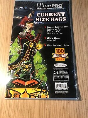 Ultra-PRO Comic Bags (Bag of 100) Current (Modern) Size Acid-Free