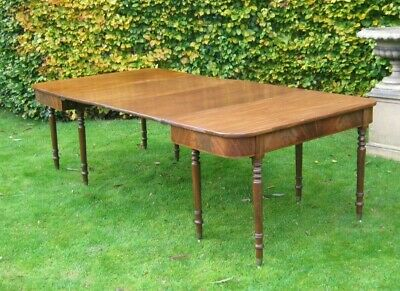 Very Good George Iii Mahogany Dining Table To Seat 10 Circa 1800