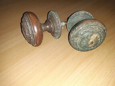 Antique Very Large Solid Brass Edwardian/Victorian Manor House Door Knobs