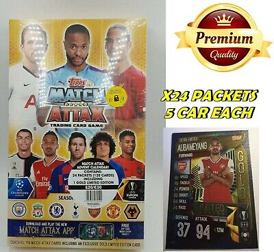 Match Attax 2019/20 Countdown Advent Calendar Gold Limited Edition Aubameyang