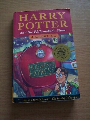 Harry Potter & the Philosophers Stone PB Book Ist Edition Old Wizard Errors