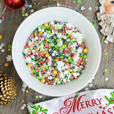All I Want For Christmas Sprinkles Mix Cupcake / Cake Decorations, festive, xmas
