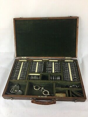 Antique Optical / Ophthalmic Trial Box /Lenses /  F Davidson & Co, London