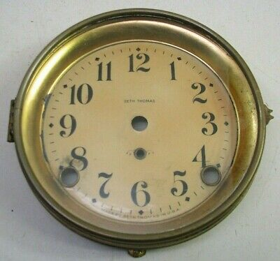 Antique Seth Thomas Adamantine Mantel Clock Celluloid Dial Bezel Parts Repair