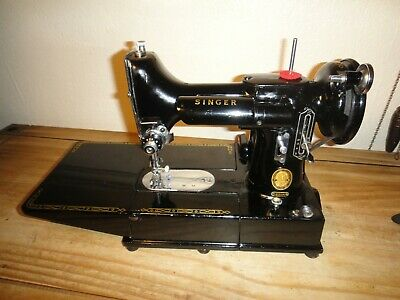 Vintage 1953 222K Singer Sewing Machine Boxed Good Condition Working Needs Tlc