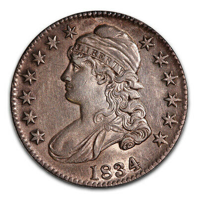 Bust Half Dollar Almost Uncirculated 1834 Large Date Large Letters
