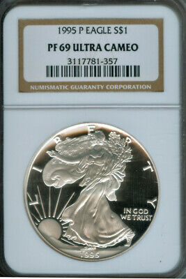 1995 P American Silver Eagle PROOF NGC PF69 Ultra Cameo (1925237)
