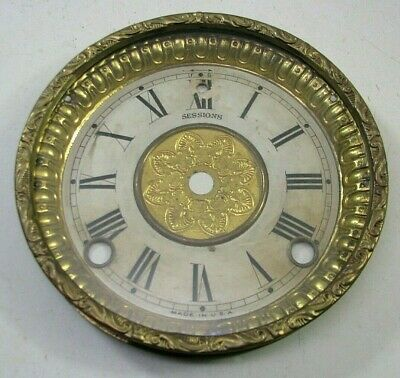 Antique Sessions Mantel Shelf Clock Dial Bezel Parts Repair