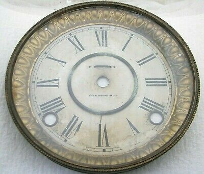 Antique E Ingraham Mantel Shelf Clock Dial Bezel Parts Repair