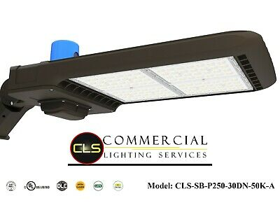 LED Commercial 250 Watt Pole Fixture with Wall Mount Warehouse Shop Light Area