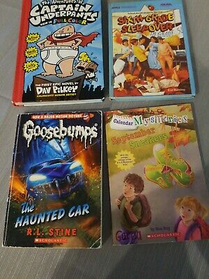 Lot of 4 Random Chapter Books Boys and Girls Hardcover and Softback