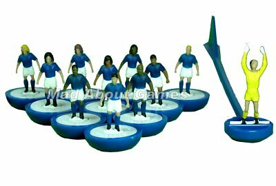 Subbuteo BLUE TEAM Unboxed Team Football Figures Paul Lamond Toy Miniatures Toy