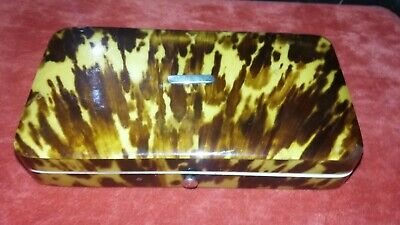 Antique Victorian Fine Tortoiseshell Covered High Quality Box