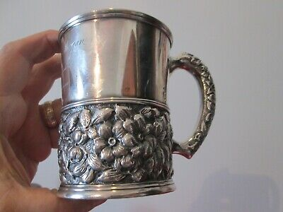 Repousse  1889 - Black & Starr & Frost -  Sterling  Silver  - Presentation Cup