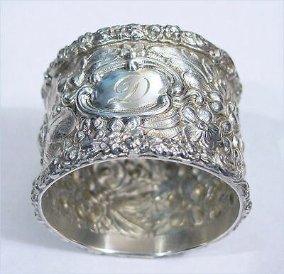 Steiff Repousse Sterling Silver Napkin Ring - Heavy - NR